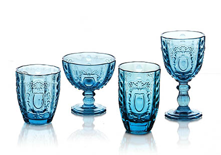 Rococo glass in Turquoise